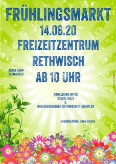 Anmeldung zum Frühlingsmarkt am 14.06.2020