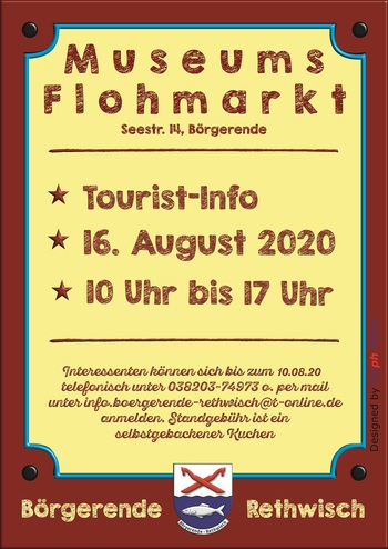 Museumsflohmarkt am 16.08.2020 von 10.00 - 17.00 Uhr