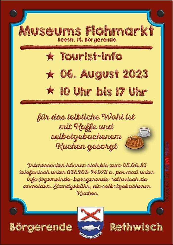 Museumsflohmarkt am 11.08.2019 von 10.00 - 17.00 Uhr
